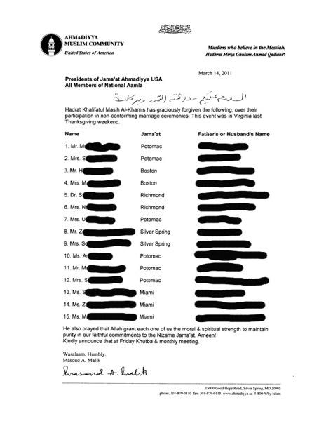 Letter from center